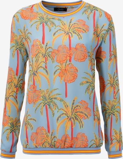 Aniston SELECTED Pullover in blau / hellgrün / mischfarben / orange, Produktansicht