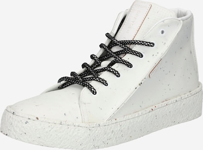 Greyderlab Zapatillas deportivas altas en blanco moteado, Vista del producto