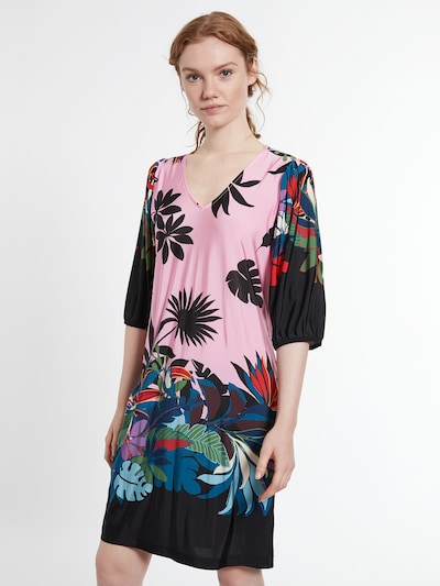 Ana Alcazar Kleid 'Dokyra' in blau / gelb / pink / rot / schwarz, Modelansicht