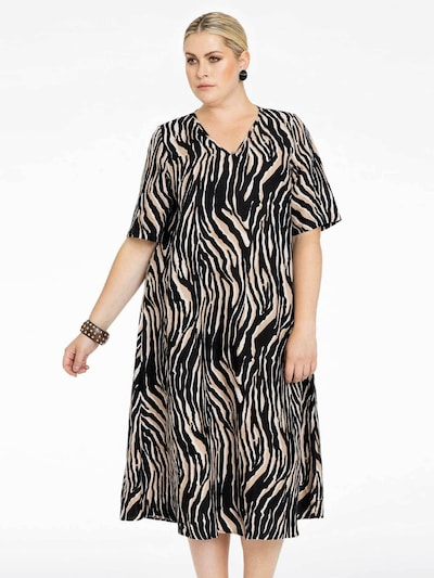 Yoek Kleid ' Tiger ' in braun, Modelansicht