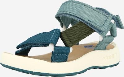 FINKID Sandale 'NAUHA' in oliv / petrol / jade, Produktansicht