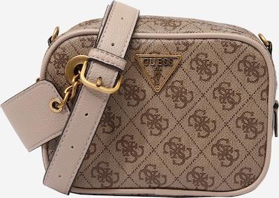 GUESS Чанта за през рамо тип преметка 'MANHATTAN' в светлобежово / тъмнобежово, Преглед на продукта