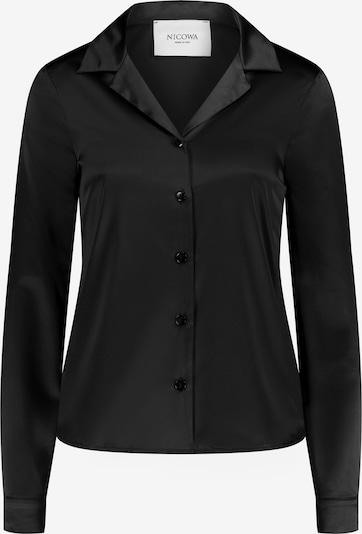 Nicowa Zeitlose Hemdbluse mit Pyjamakragen - PYNOA in schwarz, Produktansicht