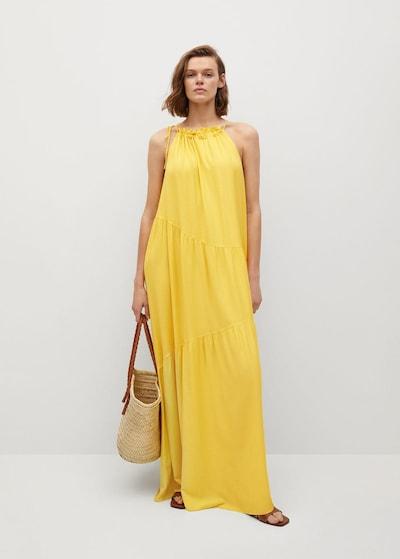 MANGO Robe oversize 'Meli' en jaune, Vue avec modèle