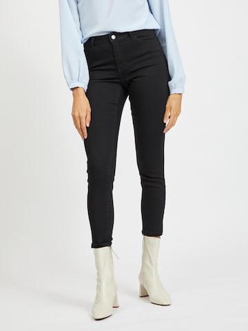 VILA Jeans 'SKINNIE' in Schwarz