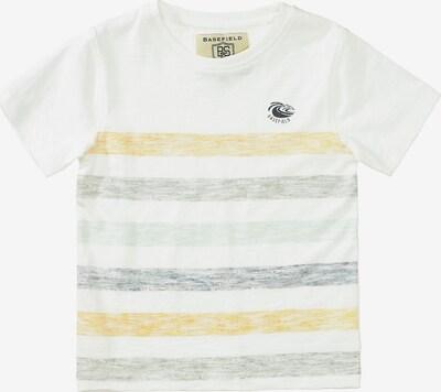 BASEFIELD T-Shirt en bleu-gris / jaune pastel / vert pastel / blanc, Vue avec produit