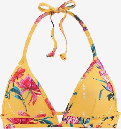 SUNSEEKER Bikinitop in goldgelb / grün / pink / weiß, Produktansicht
