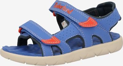 TIMBERLAND Sandalen in de kleur Royal blue/koningsblauw / Lichtrood: Vooraanzicht