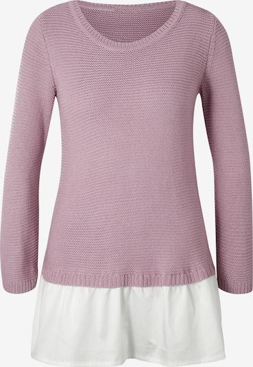 heine Pullover in rosé / weiß, Produktansicht
