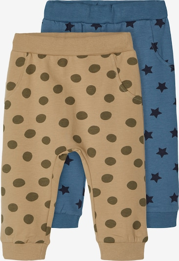 NAME IT Hose 'TILOP' in pastellblau / dunkelblau / oliv / dunkelgrün, Produktansicht