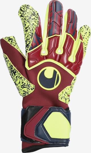 UHLSPORT Handschuh in gelb / rot / schwarz: Frontalansicht