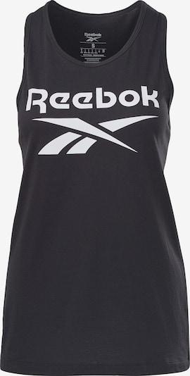 Reebok Sport Sports top in Black / White, Item view