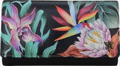 ANUSCHKA Brieftasche Island Escape Black aus handbemaltem Leder in mischfarben, Produktansicht