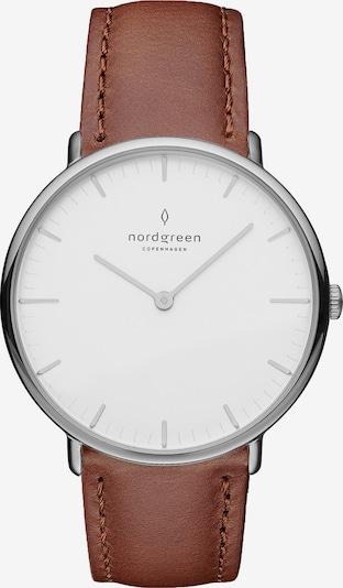 Nordgreen Armbanduhr in braun / schwarz / silber / weiß, Produktansicht
