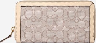 COACH Portemonnaie in elfenbein / taupe / weiß, Produktansicht