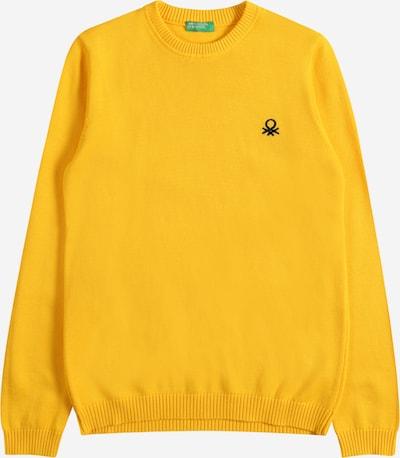 UNITED COLORS OF BENETTON Džemperis, krāsa - zeltaini dzeltens / melns, Preces skats