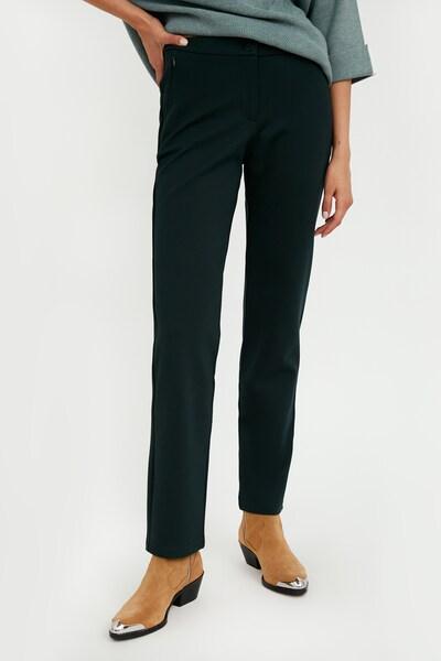 Finn Flare Jerseyhose in dunkelgrün, Modelansicht