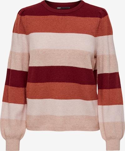 ONLY Pulover 'Katia' u boja pijeska / prljavo roza / karmin crvena / lubenica roza, Pregled proizvoda