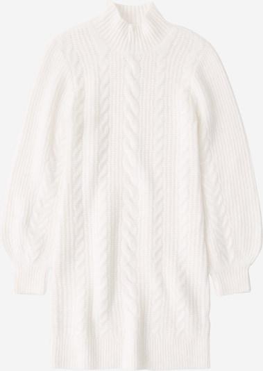 Abercrombie & Fitch Úpletové šaty - bílá, Produkt