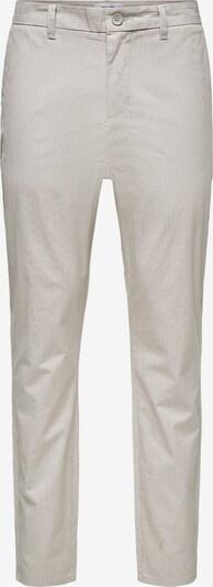 Only & Sons Lærredsbukser 'Mark' i lysegrå / hvid, Produktvisning