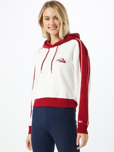 Tommy Jeans Sweatshirt in rot / weiß, Modelansicht