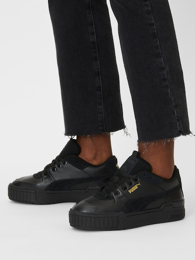 Sneaker low 'Cali' PUMA pe auriu / negru: Privire frontală