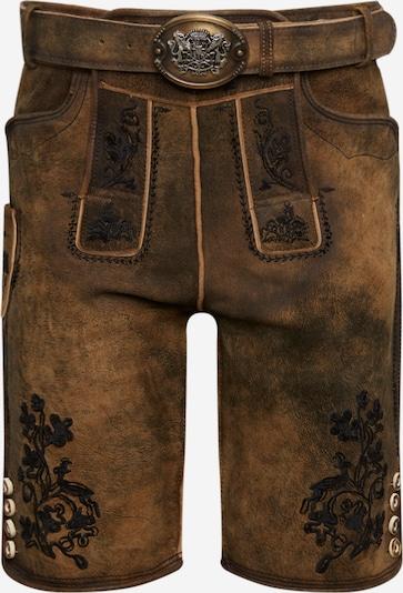 Pantaloni per costume tradizionale 'Hartl' STOCKERPOINT di colore marrone chiaro / marrone scuro, Visualizzazione prodotti