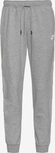 Nike Sportswear Hose in graumeliert / weiß, Produktansicht