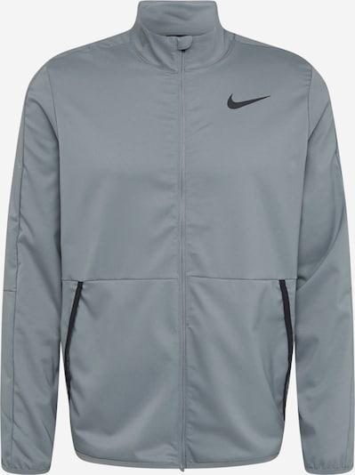 NIKE Sportsweatjacke in grau / schwarz, Produktansicht