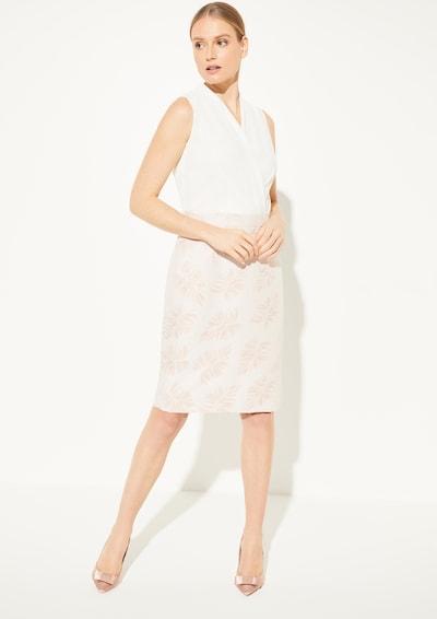 COMMA Kleid in rosa / weiß, Modelansicht