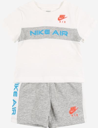 NIKE Sportski komplet u plava / siva melange / narančasta / bijela, Pregled proizvoda