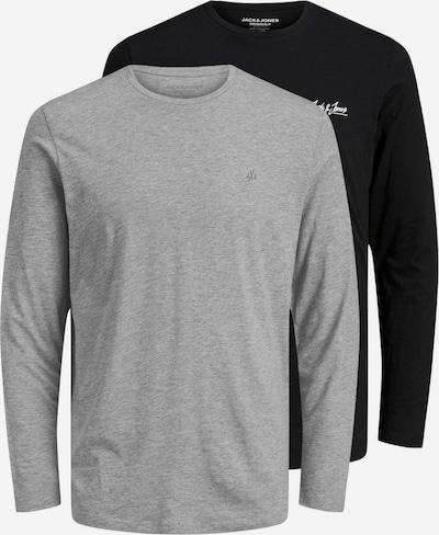 JACK & JONES Shirt in de kleur Grijs / Zwart, Productweergave