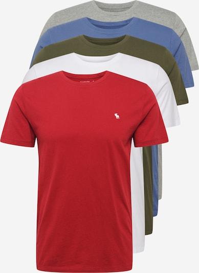 Abercrombie & Fitch Tričko - královská modrá / šedý melír / khaki / červená / bílá, Produkt