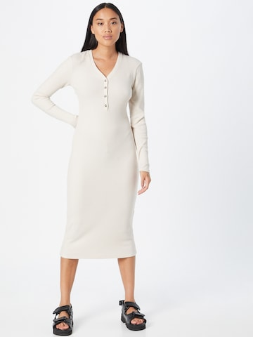 Gina Tricot Gebreide jurk 'Eloise' in Beige
