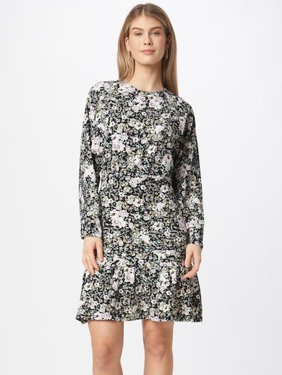 Gina Tricot Kleid 'Ellen' in khaki / pastelllila / helllila / schwarz / weiß, Modelansicht