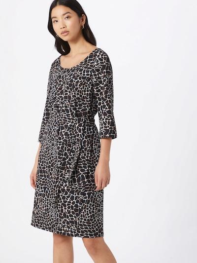 COMMA Kleid in beige / hellbeige / schwarz, Modelansicht