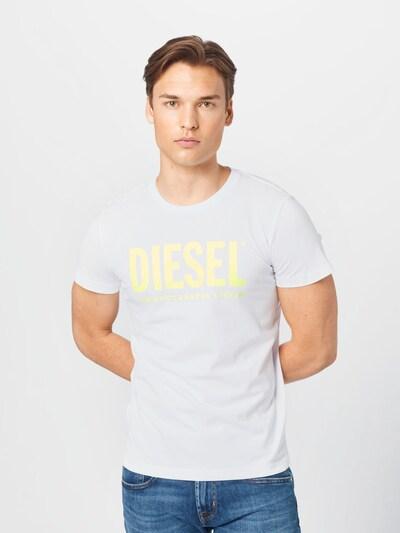 DIESEL Тениска 'DIEGO' в жълто / бяло: Изглед отпред