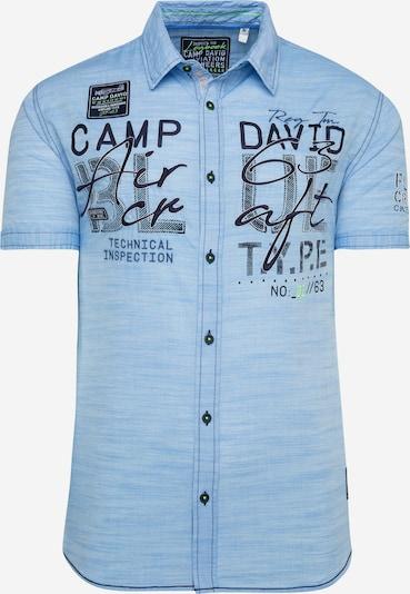 CAMP DAVID Hemd in nachtblau / hellblau, Produktansicht