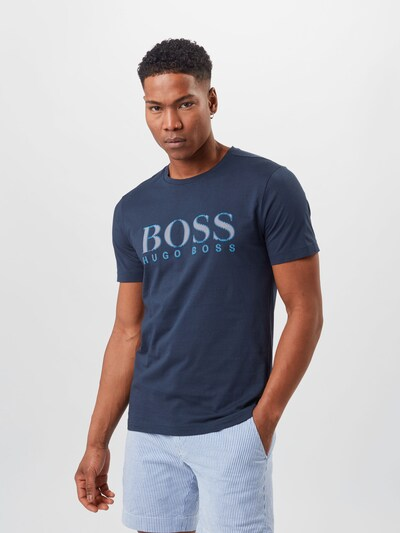 BOSS ATHLEISURE Shirt in Navy / Light blue: Frontal view