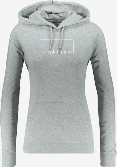 Bolzplatzkind Sweatshirt in graumeliert / weiß, Produktansicht
