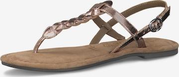 TAMARIS - Sandalias de dedo en oro