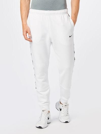 Nike Sportswear Kalhoty 'Repeat' - černá / bílá, Model/ka