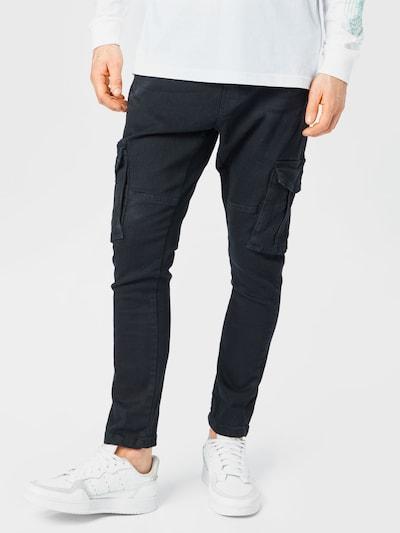 BRAVE SOUL Pantalon cargo 'FRANCIS' en gris foncé, Vue avec modèle