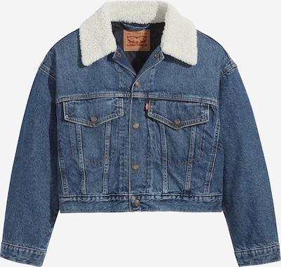 LEVI'S Jeansjacke 'CROPPED LOOSE SHERPA' in blue denim, Produktansicht