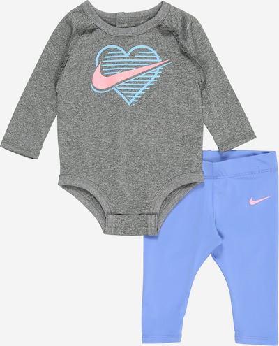 Nike Sportswear Set in royalblau / graumeliert / pink, Produktansicht