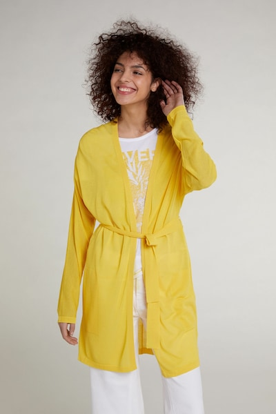 OUI Strickmantel in gelb, Modelansicht
