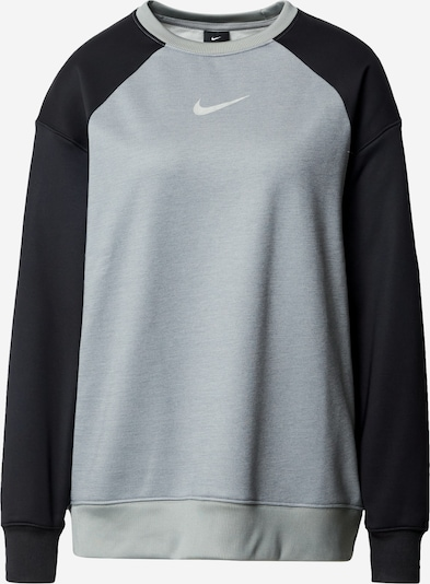 NIKE Sports sweatshirt 'Therma' in grey / black / silver, Item view