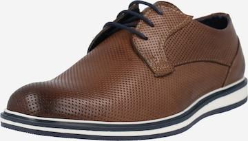 brūns ABOUT YOU Sporta apavi ar šņorēm 'Cedric'
