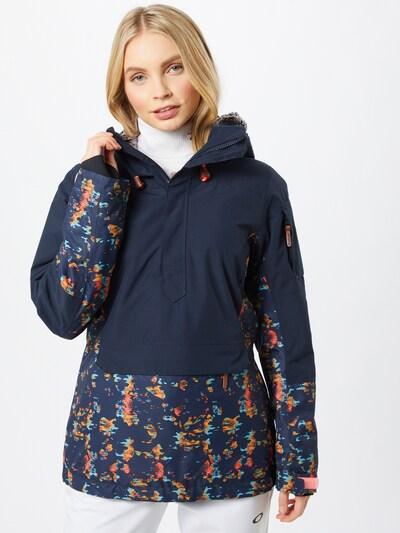 ICEPEAK Outdoorová bunda 'Clairton' - světlemodrá / tmavě modrá / zlatě žlutá / lososová: Pohled zepředu