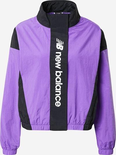 new balance Jacke in lila / schwarz, Produktansicht